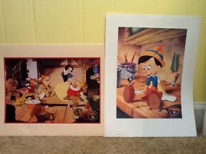 Disney Lithograph Duo Collection (Snow White & Pinocchio) $20.00