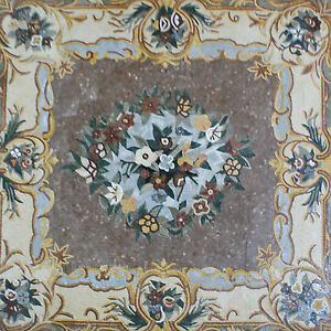 Floor Carpet Flower Bunch Classical Design Art Marble Mosaic CR1095
