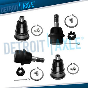 4pc Front Upper and Lower Ball Joints for 2002 2009 GMC Envoy Chevy Trailblazer $32.31