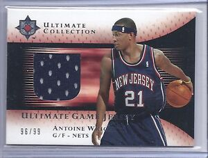 2005 2006 Ultimate Basketball Antoine Wright Ultimate Game Jersey Card #96 99 $10.00
