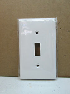 (10-Pack) Single 1-Gang Toggle Light Switch Cover Wall Plate - White