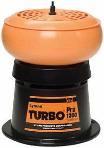 Lyman Turbo Tumbler Pro 1200 Reloading Cleaner Built In Sifter Ammo Cases