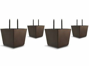 Set of 4 Universal Plastic Furniture Triangle Legs w/ Screws - Sofa/Couch/Chair