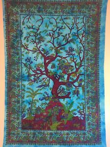 The Tree of Life Indian Wall Hanging Tapestry Bed Spread