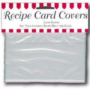 Labeleze Recipe Card Protective Covers 4 x 6