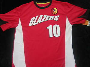 BLAZERS SOCCER Duo Dry Lite Fit Shirt BOYS XL RED 2009 #10 New CHAMPION Youth