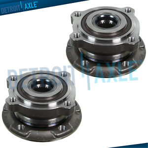Set of (2) New Front Wheel Hub & Bearing Assembly for 2010 - 2014 BMW X5M X6M
