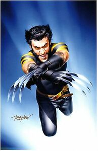 2014 COMIKAZE EXPO X MEN WOLVERINE ART PRINT SIGNED BY MIKE MAYHEW 11x17 $34.99