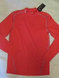 NWT MENS UNDER ARMOUR FITTED COLD GEAR COMPRESSION long sleeve SHIRT~SZ SMALL~S