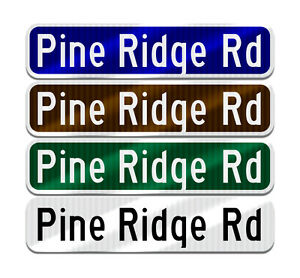 Make Your Own Personalized Custom Street Name Sign. 10 Year 3M Warranty.