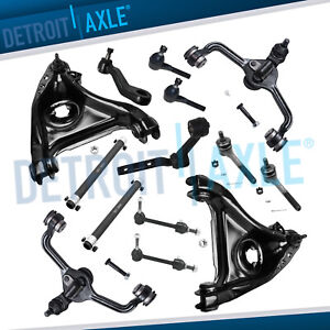 14pc Front Control Arms w Ball Joint Tierods Idler Pitman for 1998 2002 Town Car $286.83