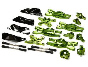 T8695GREEN Billet Machined Suspension Kit for HPI 110 Bullet MT