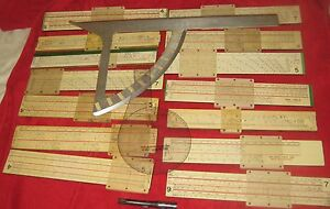 Viet Nam Era Military ProjectileAngleRange Slide Ruler Collection