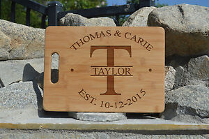 Personalized Cutting Board, Wedding Gift, Laser engraved cutting board
