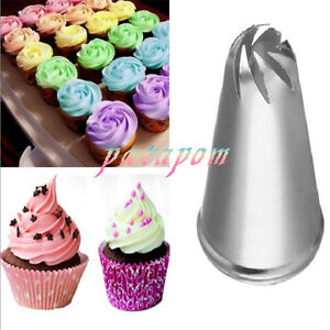2X New Flower Petal Icing Piping Nozzle Cake Decorating Pastry Tips Baking Mold $1.39