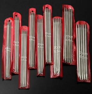 NEW 55 PCs 11 size 7.9quot; Double Pointed Stainless metal Knitting Needles ❶❶USA❶❶ $7.86