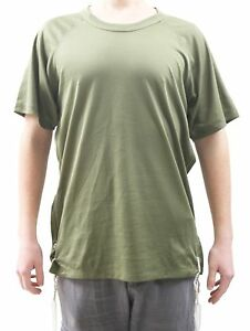 Sport Dry Fit  shirt with Tzitzit of woo l- size XL - GREEN  **FOR ARMY**