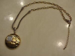 New Super Quality Rhodium GOLD PLATED Designer Style Pendant Necklace w Stones