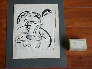 Rare Vtg Walt Disney Original Production Art Drawing c.1942 Signed Little Teapot $200.00