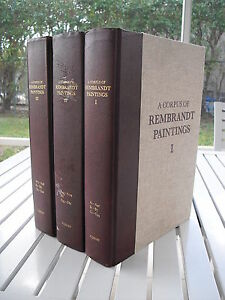 A CORPUS OF REMBRANDT PAINTINGS BY J. BRUYN 1982 3 VOLUME SET $1800.00