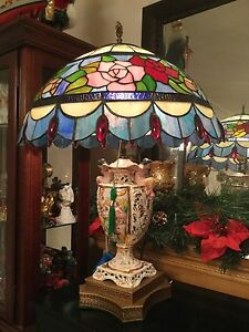 old listed fine ceramic lamp