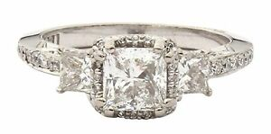 Tacori Designer EGL CERTIFIED 18K white gold diamond solitaire-style ring 1.03CT