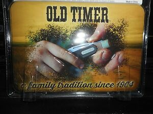 OLD TIMER GIFT TIN WITH 3 KNIVES