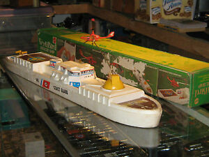 1970 mattel rescue ship toy with box not working
