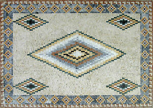 Beautiful Traditional Carpet Geometric Garden Pool Design Marble Mosaic GEO1022