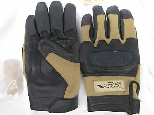 WILEY X TACTICAL FLAME RESISTANT COMBAT GLOVES KEVLAR HYBRID KNUCKLES MZ0501A