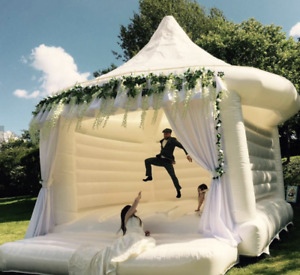 Wedding Party Inflatable Bouncer Commercial 30x30x30 PVC Bounce Tent  We Finance