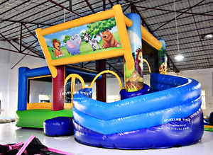 30x25x30 Commercial Inflatable Curved Water Slide Bounce House Castle We Finance