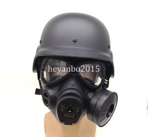 MILITAR TACTICAL AIRSOFT SWAT M88 HELMET  ARGAME PROTECTION DUMMY M04 GAS MASK