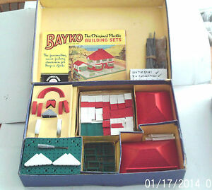 vintage bayko original building set no 2