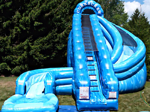 30x30x25 Commercial Inflatable Water Slide Obstacle Course Bounce We Finance 99%