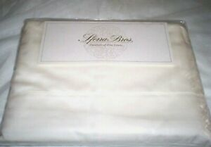 Ivory QUEEN,KING or CAL KG Sheet Set EGYPTIAN Cotton 300TC Italian Sateen Sferra