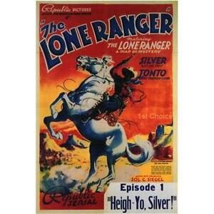 The Lone Ranger Classic Cliffhanger Serial Movie DVD Chief Thundercloud $4.99