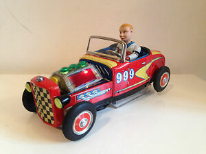 rare tin toy car nomura lightening hot rod