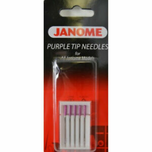 Janome Sewing Machine Purple Tip Needle 5 Count New $7.50