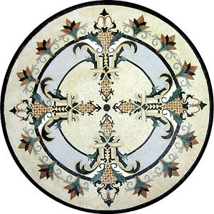 Gothic Round Medallion Design Floor Pool Garden Home Marble Mosaic MD918