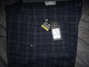 UNDER ARMOUR GOLF PLAID DRESS SHORTS W32 34 36 38 40 MENS NWT $69.99