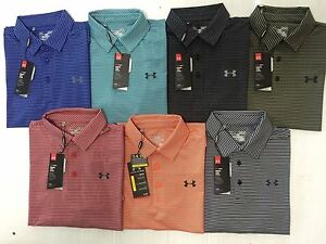 NEW UNDER ARMOUR MEN'S LOOSE HEAT GEAR GOLF STRIPE SHIRT SZ SMLXL2XL   NWT