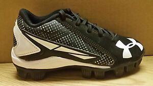 UNDER ARMOUR CLEAT * 1264187-011 * BLACKWHT * KIDS * 12 * BARGAIN PRICE $19.95!