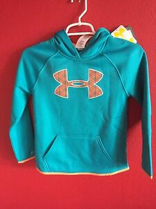 Under Armour Storm Armour Woven Hoodie - Girls Grade School Teal Youth Sz Small