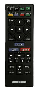 New USBRMT Replacement Sony DVD Blu-Ray Player Remote RMT-B126A For BDP-S3200
