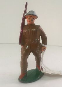 vintage barclay grey iron lead toy soldier