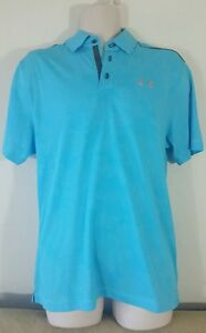 Under Armour MEN'S Athletic Golf Polo Loose Heat Gear Blue Size M