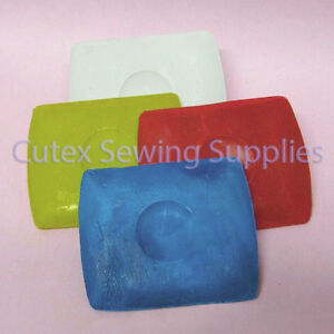 Pack of 10 Clay Based Square Tailors Chalk White Yellow Red Blue $9.95