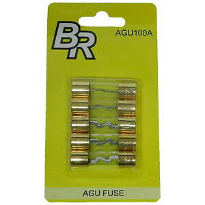 Lot of 5 Pcs Pack 100A AGU Fuses 100 AMP Gold Plated High Quality Home Car Audio $5.99