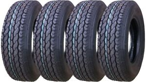 4 New Free Country Trailer Tires ST205 75D15 2057515 205 75 15 F78 15 Bias 11021 $236.50